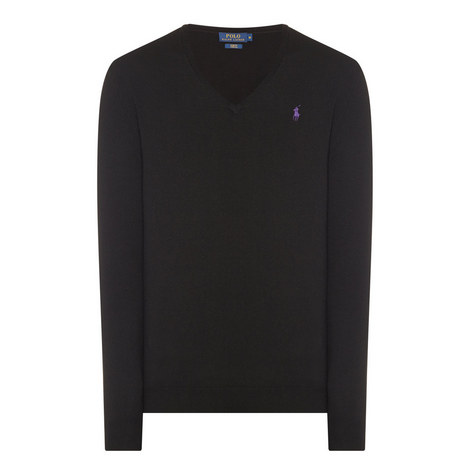 V-Neck Slim Fit Sweater, ${color}