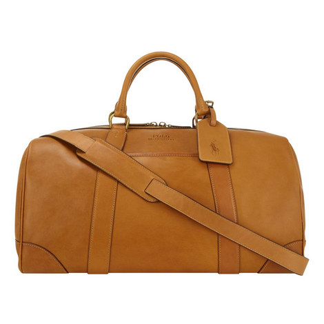 Smooth Leather Holdall, ${color}