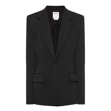 Relaxed Notched Collar Blazer, ${color}