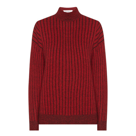 Striped Knitted Sweater, ${color}