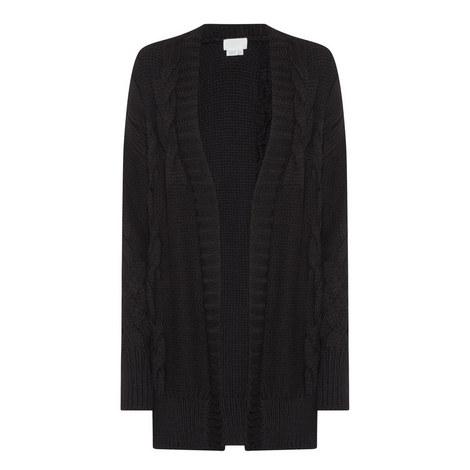 Open Front Merino Wool Cardigan, ${color}