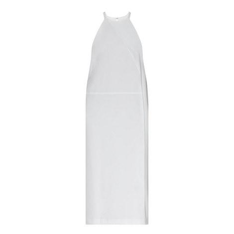 Halter Neck Crepe Dress, ${color}