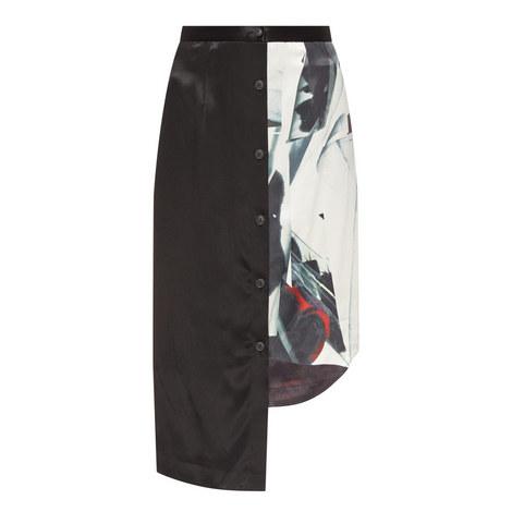 Asymmetric High Waist Skirt, ${color}