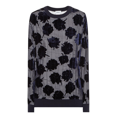 Velvet Patterned Quilted Sweatshirt, ${color}