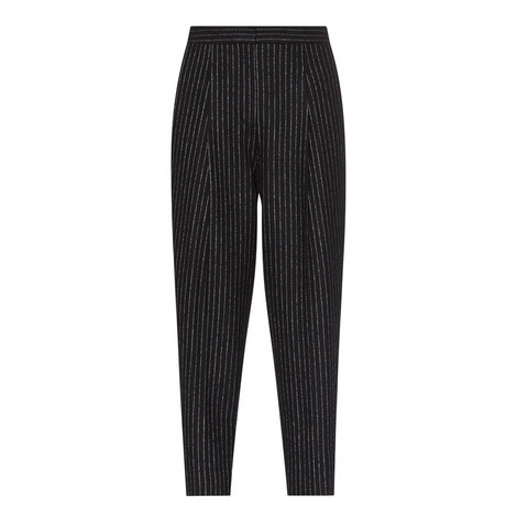 Relaxed Fit Pinstripe Trousers, ${color}