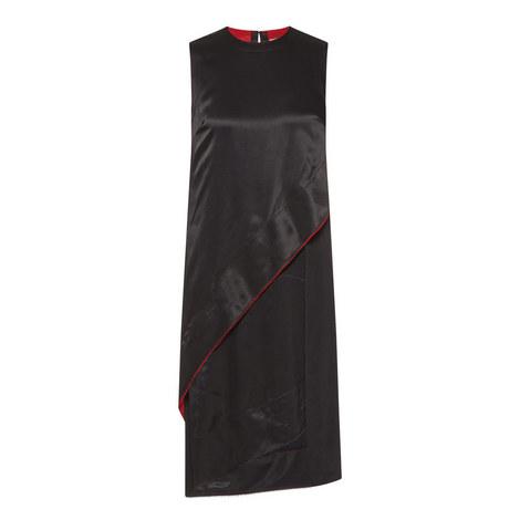 Raw Edge Layered Dress, ${color}