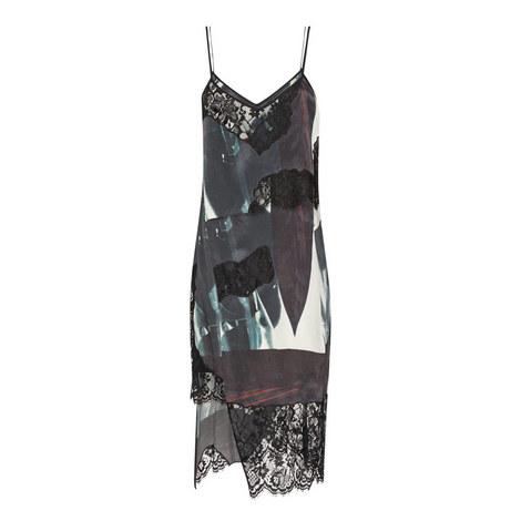 Layered Patterned Slip Dress, ${color}