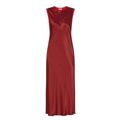 Sleeveless Satin Midi Dress, ${color}