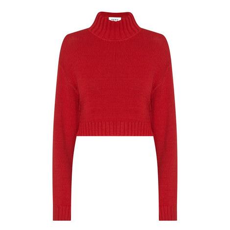 Mockneck Pullover Sweater, ${color}