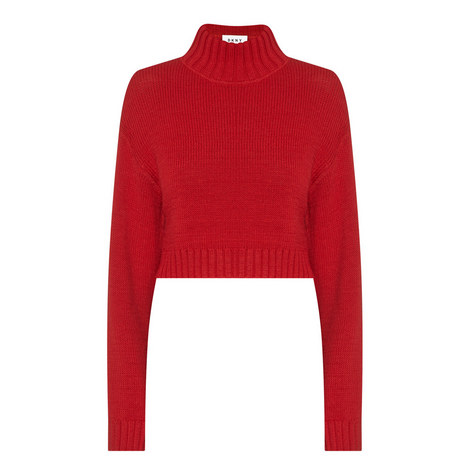 Mockneck Pullover Sweater, ${color}