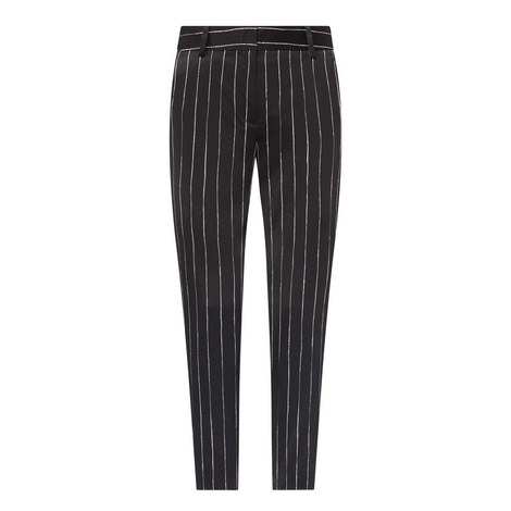 Pinstripe Tapered Trousers, ${color}