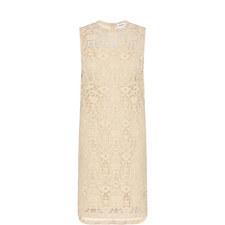Velvet Lace Shift Dress