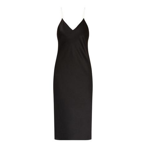 V-Neck Slip Dress, ${color}