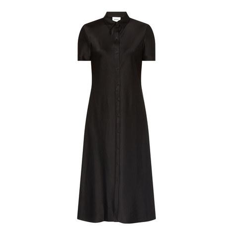 Satin Shirt Dress, ${color}