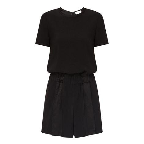 Pleated Short Jumpsuit, ${color}