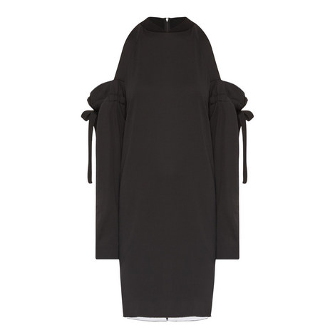 Cold-Shoulder Mini Dress, ${color}