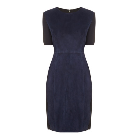 Emily Suede Front Dress, ${color}