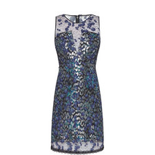 Olive Metallic Dress