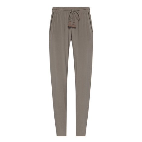 Laurence Silk Straight Fit Trousers, ${color}
