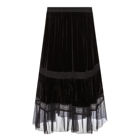 Audra Velvet Skirt, ${color}