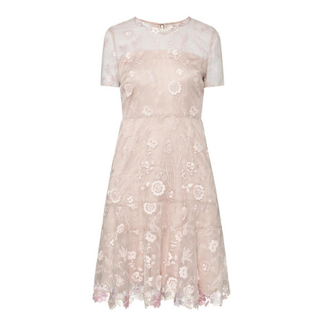 Inez Floral Embroidered Dress, ${color}