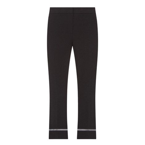 Harper Flared Cropped Trousers , ${color}