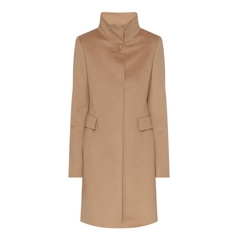 Agnese High Neck Coat, ${color}