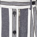 Abituro Stripe Buttoned Midi Skirt, ${color}