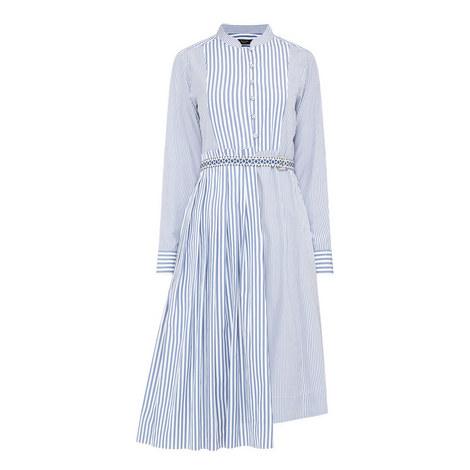 Aerovia Asymmetric Stripe Dress, ${color}