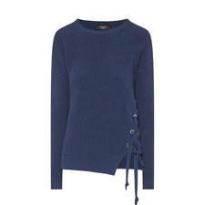 Aguzze Lace-Up Knit Sweater