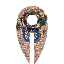 Alare Patterned Silk Scarf