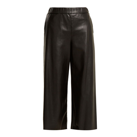 Aosta Faux Leather Culottes, ${color}