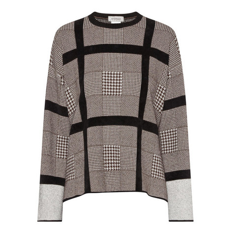 Ara Houndstooth Check Sweater, ${color}