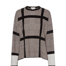 Ara Houndstooth Check Sweater