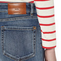 Ario Cropped Flared Jeans, ${color}