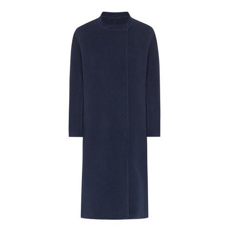 Arnaldo Collarless Wool Coat, ${color}