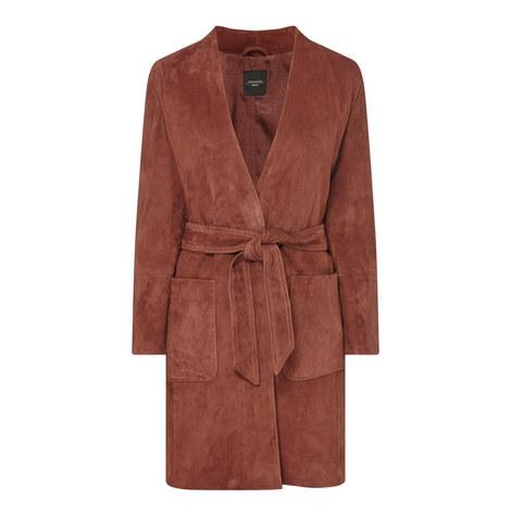 Acro Suede Coat, ${color}