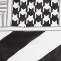 Baldi Houndstooth Print Scarf, ${color}