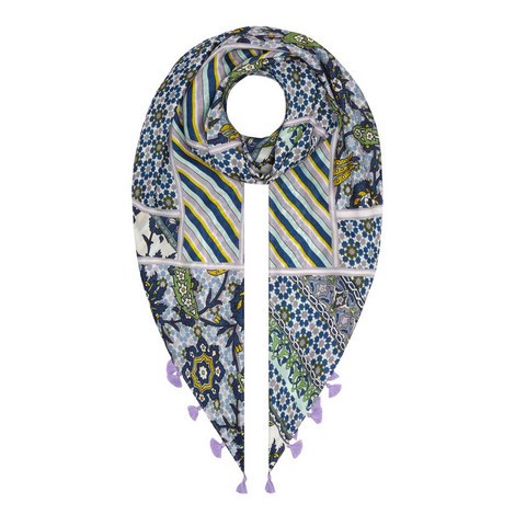 Baldi Marrakesh Silk Tassel Scarf, ${color}
