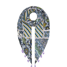 Baldi Marrakesh Silk Tassel Scarf
