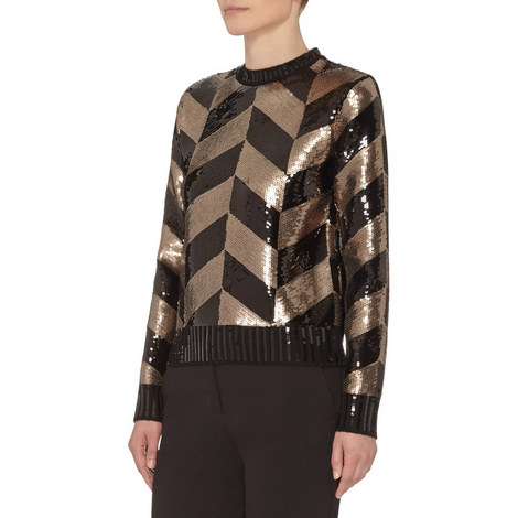 Baviera Sequinned Top, ${color}