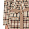 Cipria Check Cardigan, ${color}