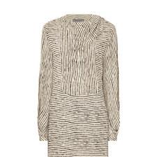 Belinda Striped Silk Blouse