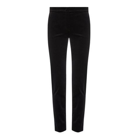 Benaco Slim Velvet Trousers, ${color}