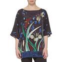 Berenice Silk Print Top, ${color}