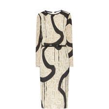 Bina Belted Patterned Dress