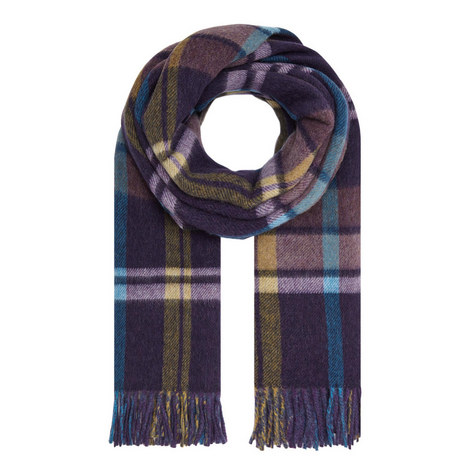Birba Large Check Scarf, ${color}