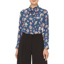 Ofelia Floral Silk Blouse, ${color}