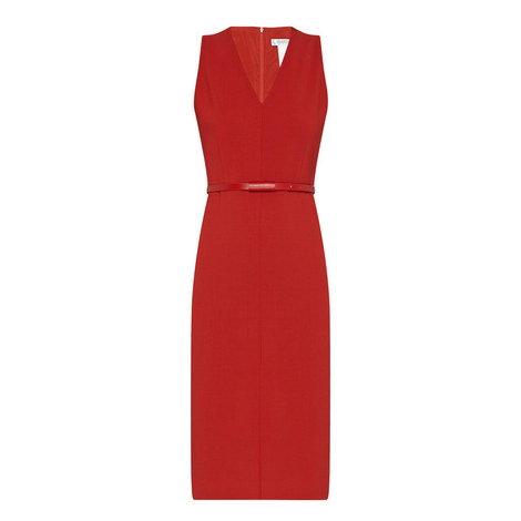 Brado V-Neck Pencil Dress, ${color}