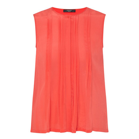 Brava Pleated Front Top, ${color}